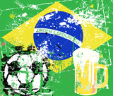 Soccer / Football in Brazil,grungy style, vector