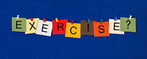 Exercise, sign series for sport, medical health care, fitness.