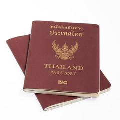 Thailand passport isolated