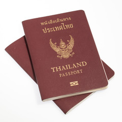 Thailand passport isolated