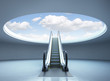 Escalator stairway to success - 65960726
