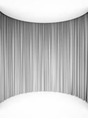 Circle white curtains