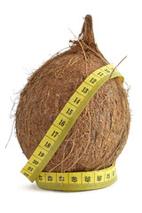 Cocoanut and a tape of measure