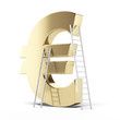 golden Euro sign with ladders