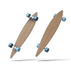 wood longboard skate