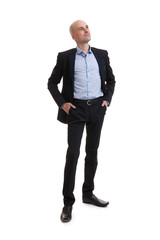 smiling business man standing full length