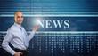 Young Businessman. Online news concept