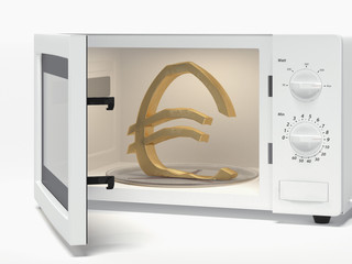 microwave with euro sign