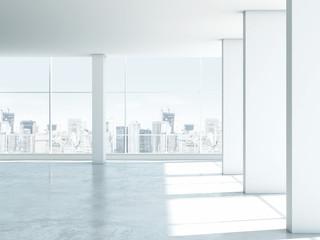 White empty office interior