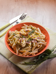 pasta with speck sage and cream sauce
