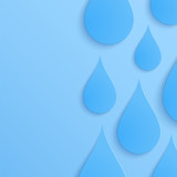 Paper water drop abstract background