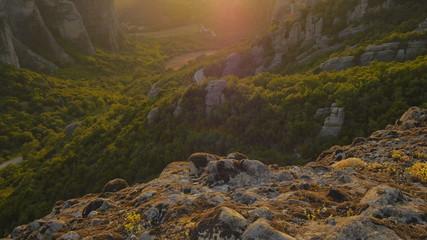 Meteora at sunset. Greece