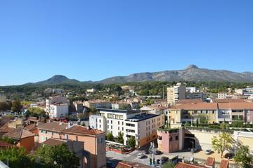 Vue panoramique d'Aubagne