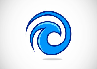 water wave abstract logo