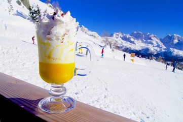 Bombardino in Italy slope