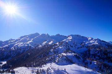 Dolomites sun