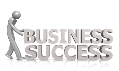 Business success word with puppet