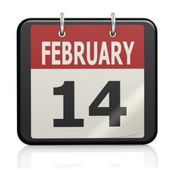 February 14, Valentine s Day calendar