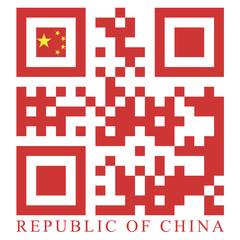 China QR code flag, vector
