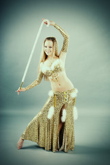 girl in belly dance dress