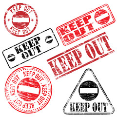 Keep Out Stamp
