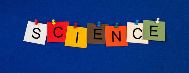Science, sign series for scientific research, the sciences and e