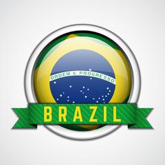Brazil badge vector illustration