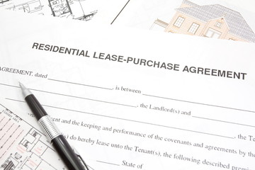 Residential lease or purchase agreement paper form