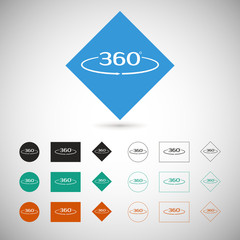 Angle 360 degrees sign