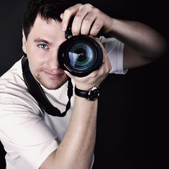 Portrait of the male photographer