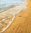 Sand beach and wave.