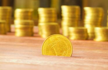 Ukrainian hryvnias, heap of coins.