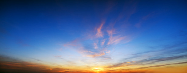 sunrise over ocean.
