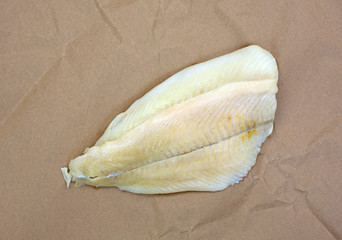 Flounder fillets on butcher paper