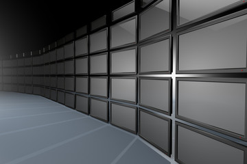 High Tech Videowall Presentation Concept 3D work