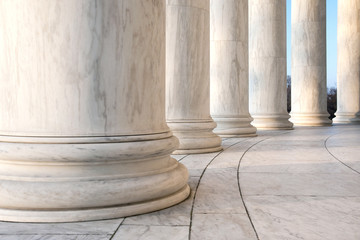 Base of Ionic Columns at Jefferson Memorial in Washington DC