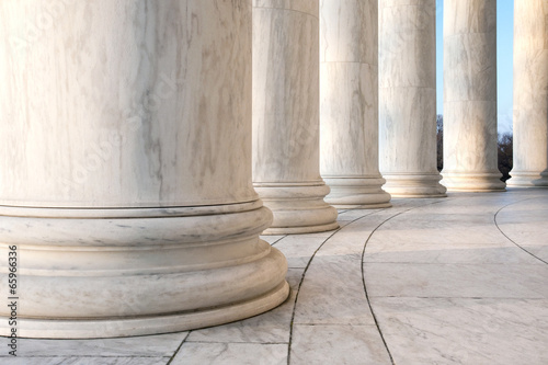 Zdjęcia na płótnie, fototapety, obrazy : Base of Ionic Columns at Jefferson Memorial in Washington DC