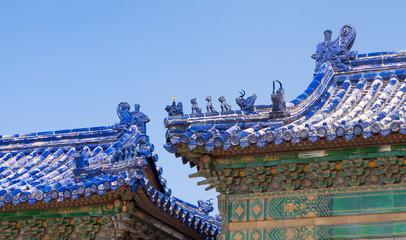traditionelle chinesische Dachverzierung