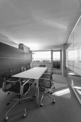 Italy, office empty business meeting room