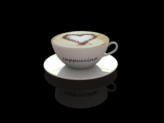 Cappuccino coffee cup