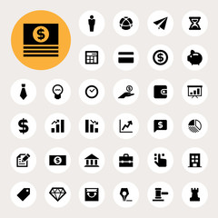 business and finance finance icon set