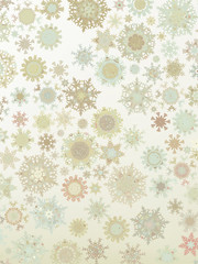 Template Retro Snowflakes background. EPS 8