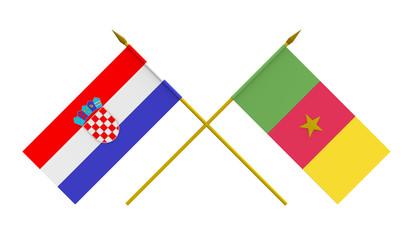 Flags, Croatia and Cameroon