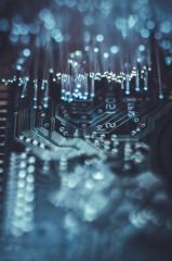 data information, motherboard chip Fiber optic lights