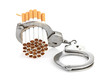 canvas print picture - Addition concept with cigarettes and handcuffs