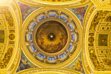Russian orthodoxy cathedral temple interior