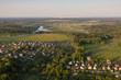 Moscow suburbs in the evening bird's-eye view