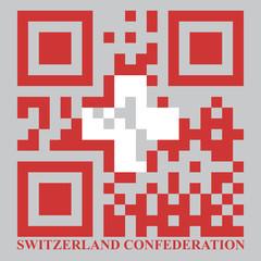 Norway QR code flag, vector