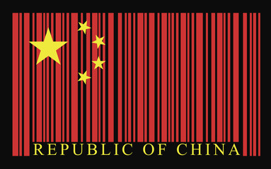 China barcode flag, vector