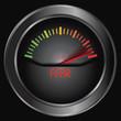 Fear meter indicate, vector